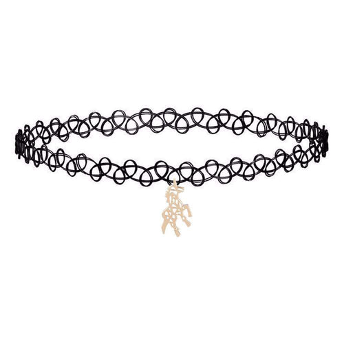 UNICORN CHOKER NECKLACE-Alpha Manchester