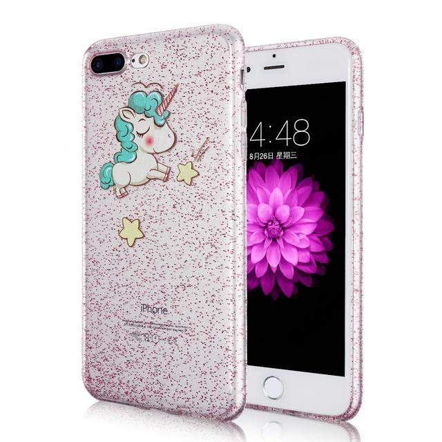 UNICORN GLITTER IPHONE CASE - Big Red