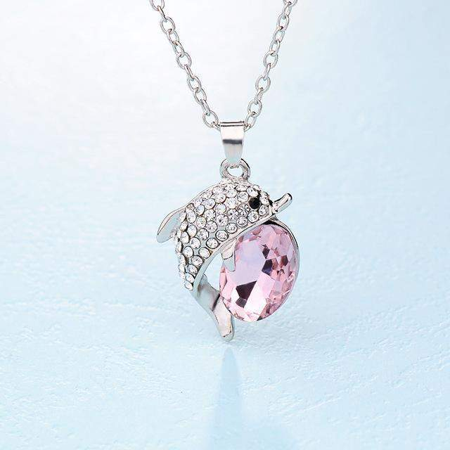 VARGARY CRYSTAL DOLPHIN NECKLACE-Alpha Manchester