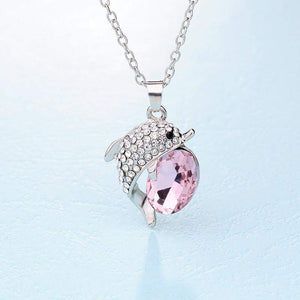VARGARY CRYSTAL DOLPHIN NECKLACE - Big Red