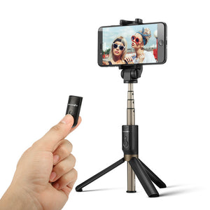 3 in 1 Wireless Bluetooth Selfie Stick mit Fernbedienung und Standfuß
