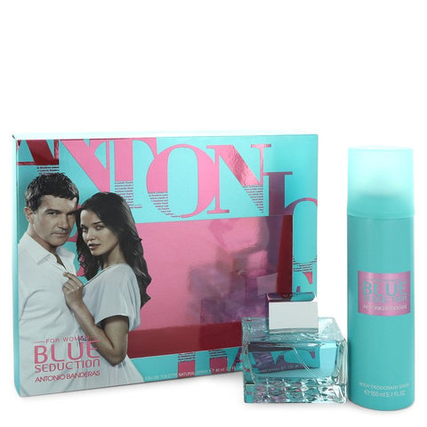 Blue Seduction Perfume By Antonio Banderas Gift Set For Women