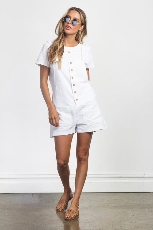CARTER PLAYSUIT - WHITE