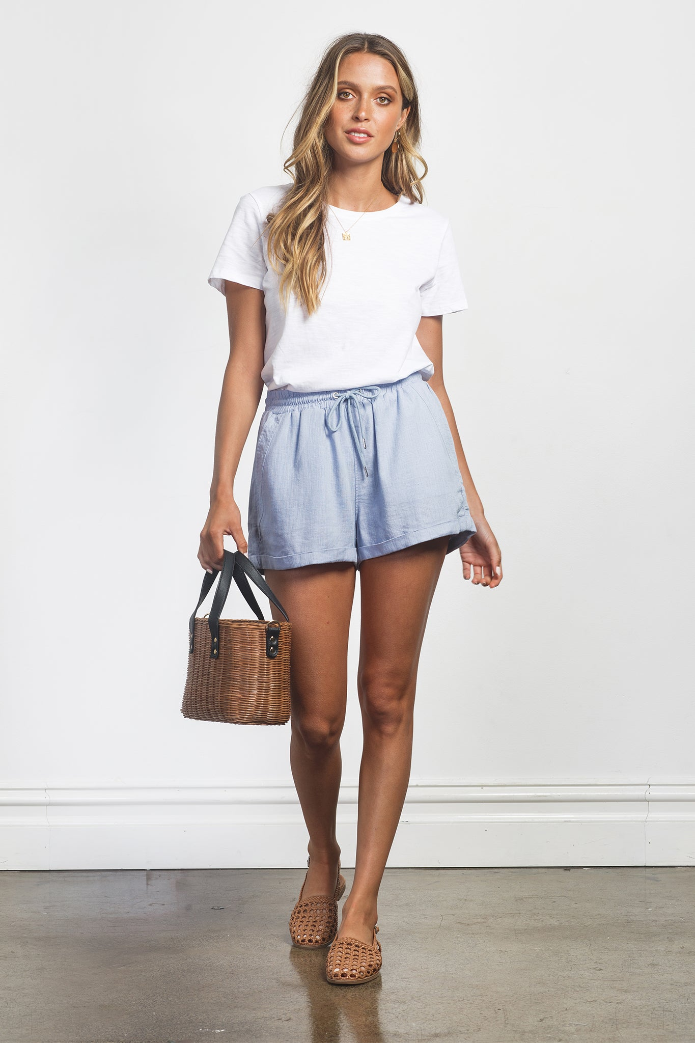 ARIA SHORTS - SKY BLUE