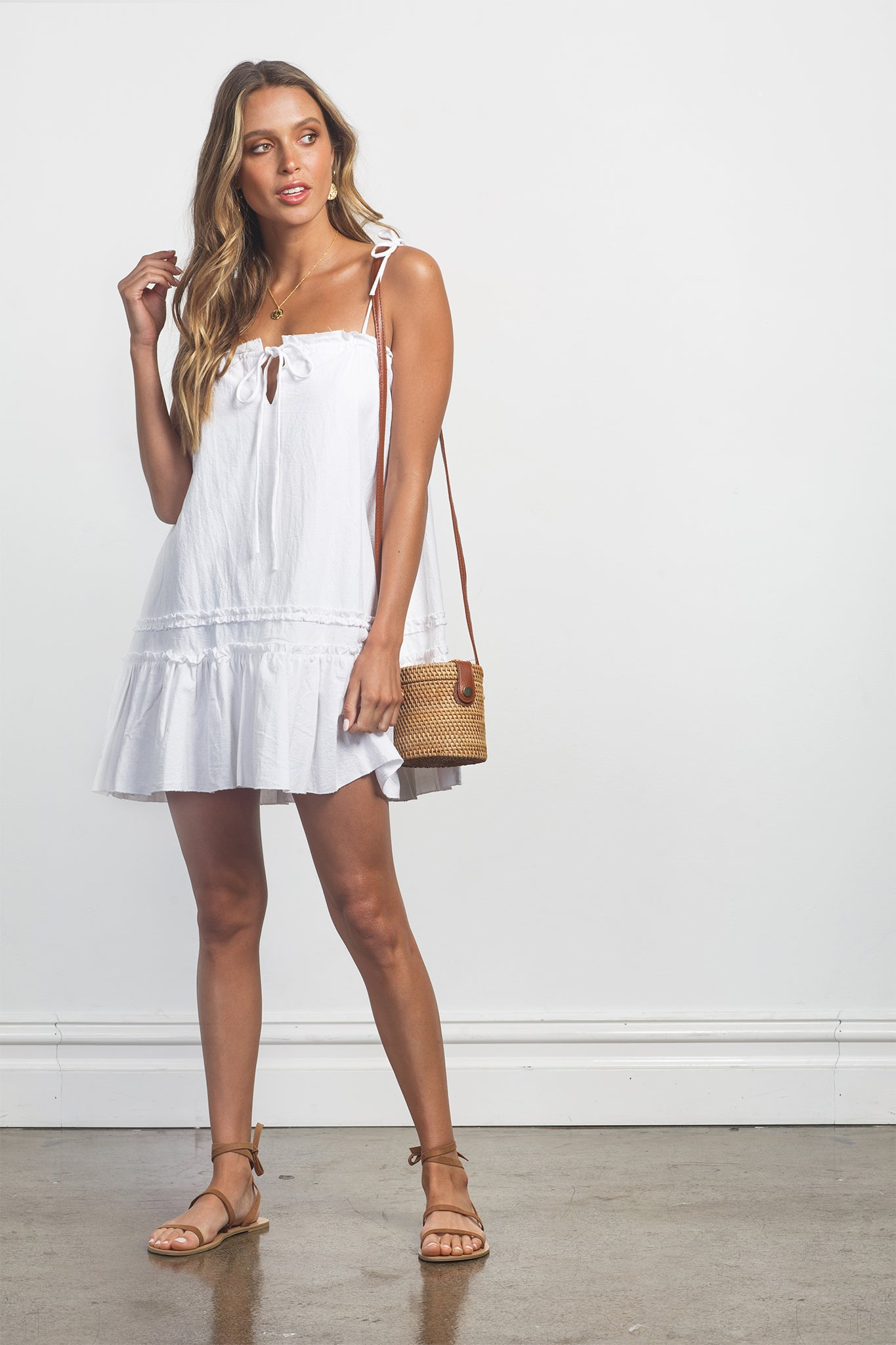 RUMI DRESS - WHITE