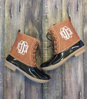Monogrammed Duck Boots - Monograms By Kim Boutique & Gifts