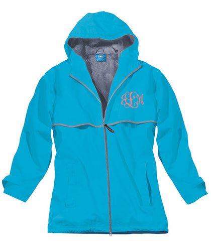 New Englander Rain Jacket--Wave - Monograms By Kim Boutique & Gifts