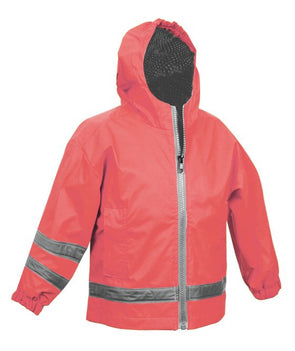 Children's New Englander Rain Jacket--Coral - Monograms By Kim Boutique & Gifts