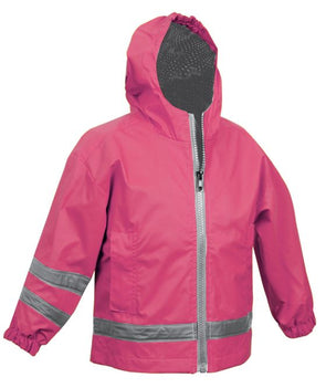Children's New Englander Rain Jacket--Hot Pink - Monograms By Kim Boutique & Gifts