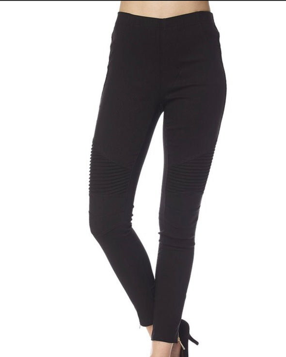 Black Moto Jeggings--Curvy - Monograms By Kim Boutique & Gifts