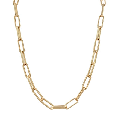 "Matte Gold Chain 17""-19"" Necklace"