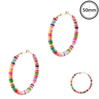 "Multi Rubber Hoop 2.5"" Earrings"