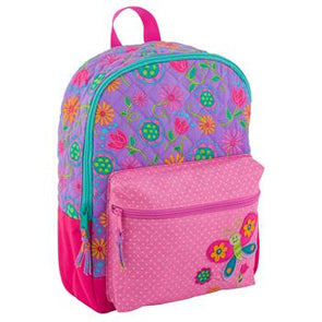 Stephen Joseph Quilted Rucksack Backpack - Butterfly - Monograms By Kim Boutique & Gifts