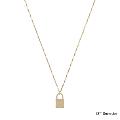"Simple Gold Locket on Gold Chain 17""-19"" Necklace"