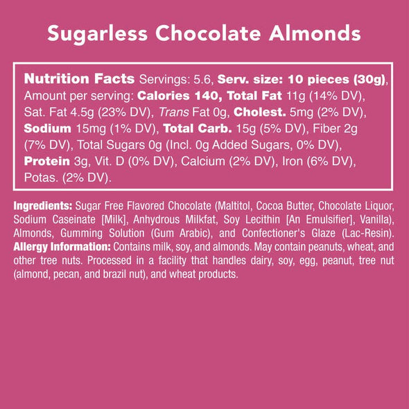 Sugarless Chocolate Almonds Candy