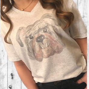 Bulldog WaterColor Graphic Tee - Monograms By Kim Boutique & Gifts