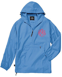Unlined Pullover Rain Jacket--Columbia Blue