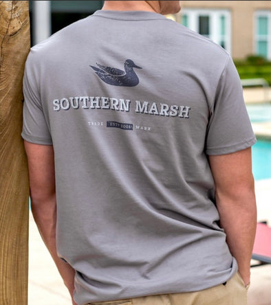 Southern Marsh Trademark Duck Tee - Dark Grey