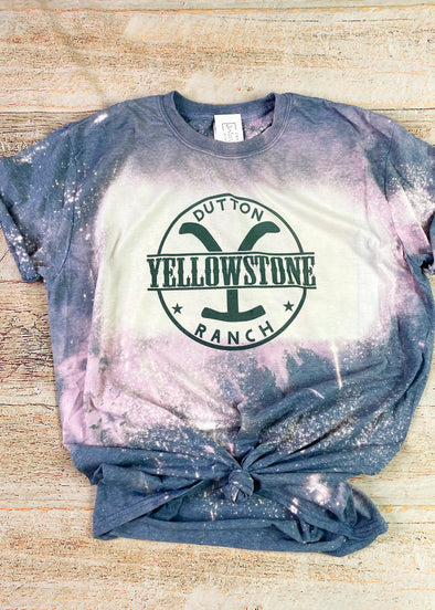 Yellowstone Dutton Ranch Bleached Graphic Tee