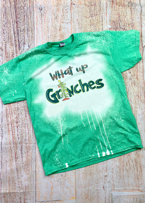 ( Youth ) What Up Grinches Bleached Graphic Tee