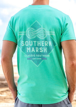 Branding Collection Tee - Nautical Knot - Bimini Green