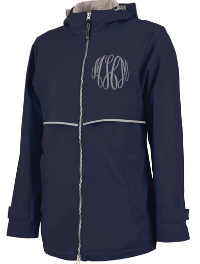 New Englander Rain Jacket--Navy - Monograms By Kim Boutique & Gifts
