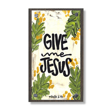 Give Me Jesus Happy Block - Monograms By Kim Boutique & Gifts