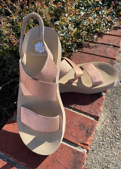 YellowBox Bunkie Sandals--Rose Gold