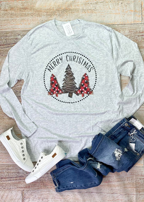 Merry Christmas Long Sleeve Tee
