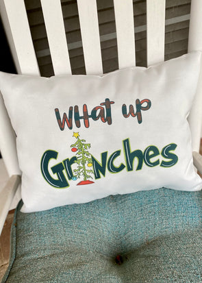 What Up Grinches Pillow