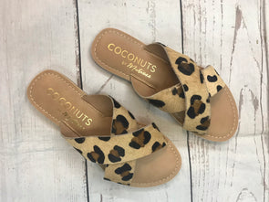 Matisse Pebble Sandals - Leopard/Cowhair - Monograms By Kim Boutique & Gifts