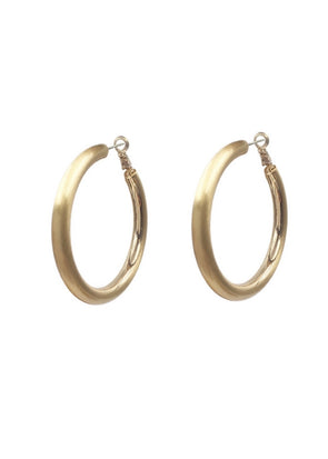 "Satin Gold 2"" Hoop Earrings"