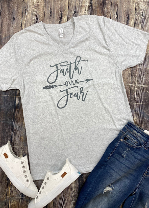 Faith Over Fear Graphic Tee - Monograms By Kim Boutique & Gifts