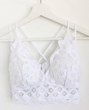 Hello Lovely Bralette (Curvy) - White - Monograms By Kim Boutique & Gifts