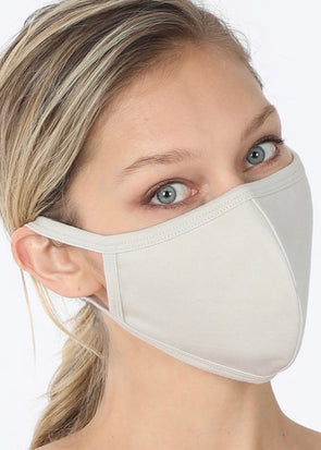 Washable Filter Pocket Mask - Bone