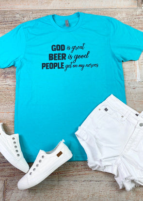 God Is Great, Beer Is Good Graphic Tee