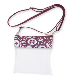 Game Day Crossbody Bag - Mississippi State - Monograms By Kim Boutique & Gifts