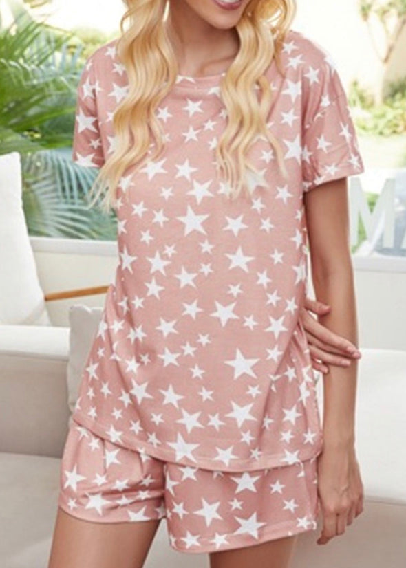 Pink Star Pajama Set