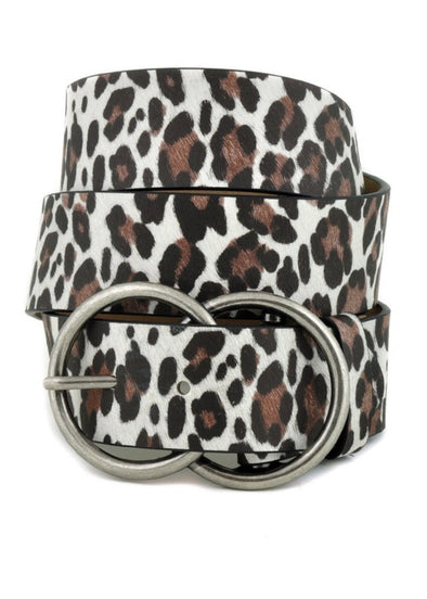Premium Leopard Print Belt - White - Monograms By Kim Boutique & Gifts