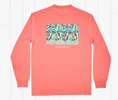 Southern Marsh FieldTec Comfort LS - Bayside Leaves - Coral