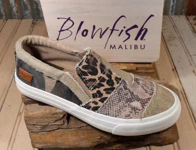 Blowfish Maddox Sneaker - Natural Snake Print