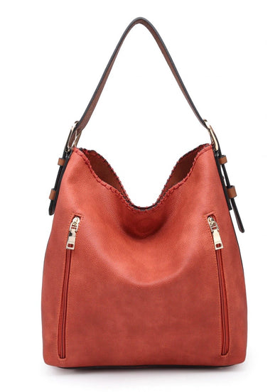 Monogrammed Alexa 2-in-1 Hobo Bag - Burnt Orange