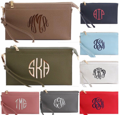 Monogrammed Sarah Wristlet/Crossbody Purse - Monograms By Kim Boutique & Gifts