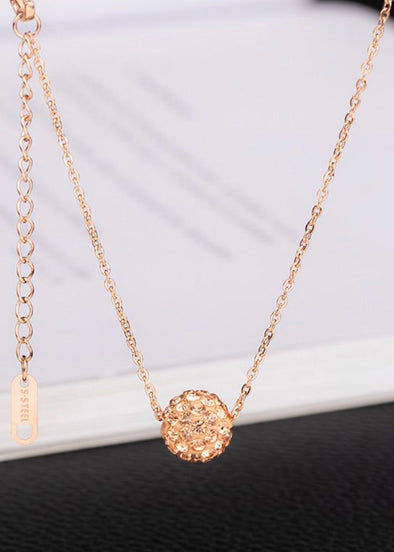 Princess Necklace - Rose Gold - Monograms By Kim Boutique & Gifts