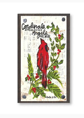 Cardinals Appear When Angels Are Near Happy Block