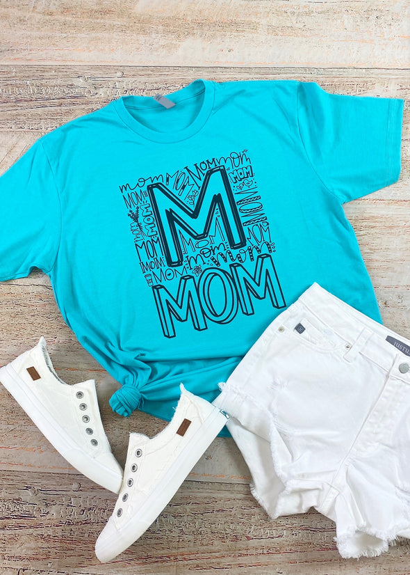 Teal Mom Graphic Tee - Monograms By Kim Boutique & Gifts