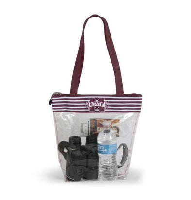 Gameday Bag with Zipper Closure - Mississippi State - Monograms By Kim Boutique & Gifts