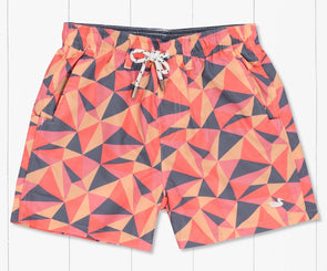 Southern Marsh Youth Dockside Swim Trunk - Facets - Mountain Purple & Peach