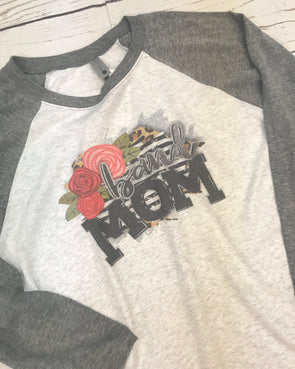 Band Mom Graphic Raglan Tee - Monograms By Kim Boutique & Gifts