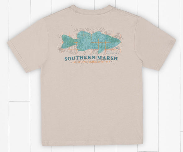 Southern Marsh YOUTH Deep Bass Tee-Ash Gray